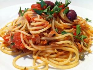spaghetti tuna chilies